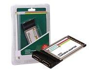 Digitus SATA 150 Cardbus kaart en interface adapter - kaarten en interface adapter (bus kaart, Sil 3512, zwart, zilver, 150 Mbit/s, bedraed, Win 98, ME, NT4, 2000, XP, Vista)