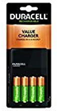 Duracell - Ion Speed 1000 Battery Charger with 4 AA Batteries - charger for AA and AAA batteries (Pack of 6)