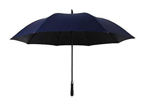 YNHNI Paraguas, Paraguas Recto Totalmente automático, Paraguas de Lluvia y Lluvia, Paraguas Doble Grande, Paraguas de plástico de protección Solar, Paraguas de Moda de Verano,Portátil (Color : Blue)