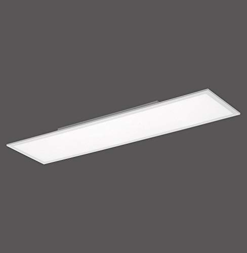 Paul Neuhaus Q-Flag, LED Panel, 120x30, Smart-Home | dimmbare Decken-Lampe mit steuerbarer Farbtemperatur, warmweiss - kaltweiss | Decken-Leuchte Alexa kompatibel