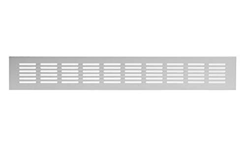 60 x 400 mm aluminium ventilatierooster zilver web plaat ventilatie aluminium rooster meubilair rooster meubelventilatie