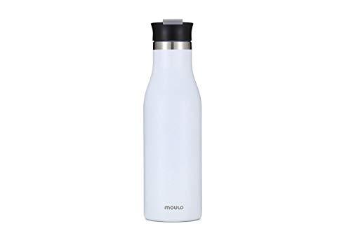 Moulo Puls - Botella isotérmica de acero inoxidable (500 ml), color blanco