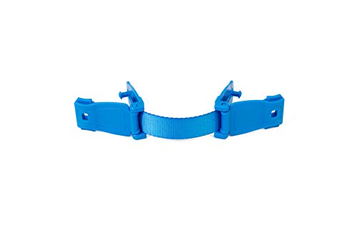 StrapStop - Multipurpose Child Safety Strap for High Chairs/Car Seats/Strollers/Backpacks and More - Crash Tested (Blue)