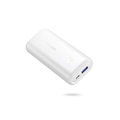 POWERADD Mini Powerbank EnergyCell 10000mAh USB Power Bank Kompakter Externer Akku Leichtes Tragbares Ladegerät für Handy, iPhone iPad Samsung Galaxy Huawei und andere Smartphones-Weiß