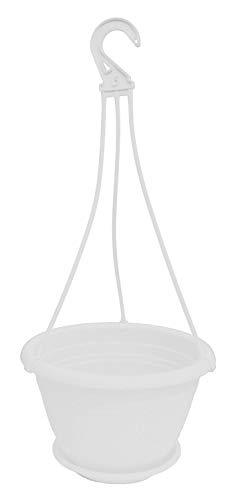Geli Thermo Plastic Pot rond suspendu pour fleurs Galicia en plastique anthracite de 20 cm de diamètre 25 cm Blanc 10
