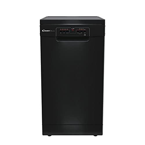 Candy CDPH2L1049B Freestanding Slimline Dishwasher, 10 Place Settings, 45 cm Wide, 5 Programmes, Black