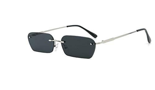Gafas de Sol Gafas De Sol De Caja Pequeña De Personalidad Gafas De Sol Cuadradas De Europa Y América protección para los Ojos (Color : C)