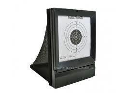 ARSUK Airsoft BB Schießen Zielscheibe klebrig Crossman Magnetisch Halter Ständer Papier Kugelfang Multifunktions mit Trichter Selbst zurücksetzend für Luftgewehr Pistole (Papierziel)
