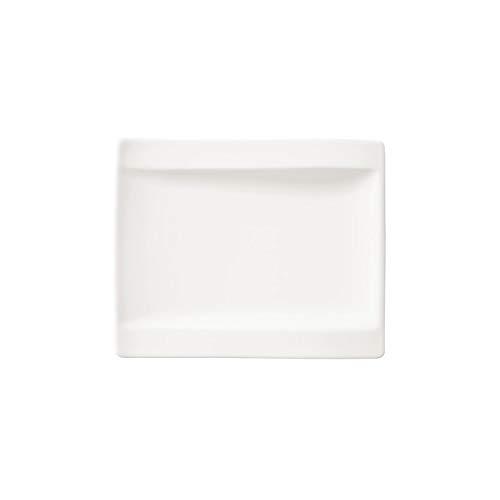Villeroy und Boch NewWave Brotteller, 18 x 15 cm, Premium Porzellan, Weiß