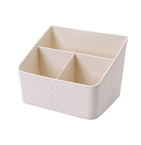 SHUANGJ Caja de Almacenamiento cosmético de plástico de Escritorio Caja de Almacenamiento de plástico de Escritorio Caja de Almacenamiento cosmético Caja de Almacenamiento cosmético Square Apricot