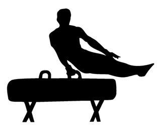Turnen Turn Bock 15cm Aufkleber ohne Hintergrund von SUPERSTICKI® aus Hochleistungsfolie für alle glatten Flächen UV und Waschanlagenfest Tuning Profi Qualität Auto KFZ Scheibe Lack Profi-Qualität