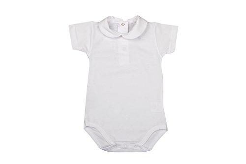 BabyVip - Body para niño y niña, Estilo Abotonado, 100% algodón, Hilo escocés - Blanco - 6-9...