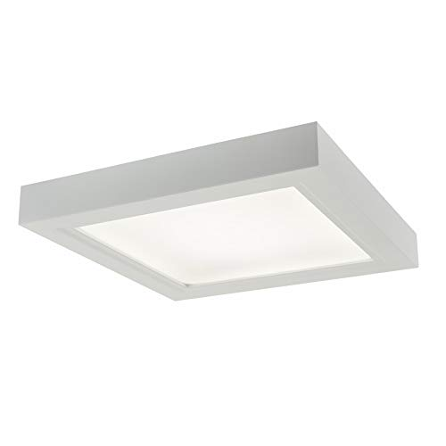 Broan-NuTone AER110LTK Roomside Ventilation LED Light with Trim Kit, Energy Star Certified, 110 CFM, 1.5 Sones Bath Fan, White