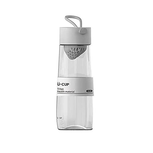 Yidieman Botella Deportiva,Botella de Agua portátil Tritan con asa-Gray_500ML,Gimnasio,hogar,Oficina,Actividades al Aire Libre