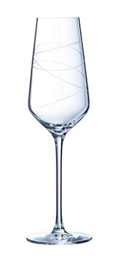CRISTAL D'ARques P0856 - Set di 4 calici da 21 cl, con astratzione e cristallo di Arques Paris, 0,21 l