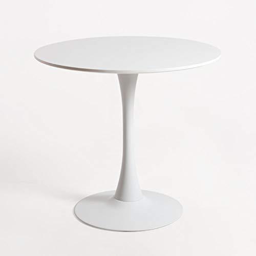 Regalos Miguel - Mesas Comedor - Mesa Kolio 80 cm - Blanco - Envío Desde España