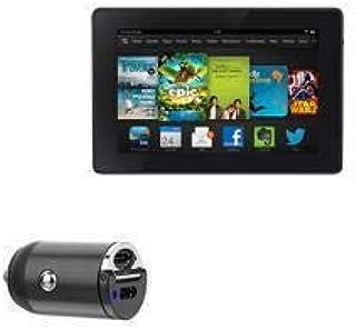 Carregador de carro Kindle Fire HD 7 (3ª geração 2013), BoxWave [Mini carregador de carro PD duplo] Rápido, 2 carregadores...