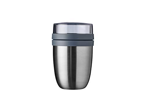 Mepal – Thermos Lunchpot Ellipse spazzolato, pratico contenitore termico da 500 ml, per yogurt e yogurt – mantiene i cibi caldi o freschi a lungo.