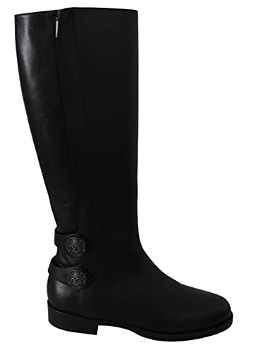 Dolce & Gabbana Black Leather Knee High Shoes Boots Size 8.5 US