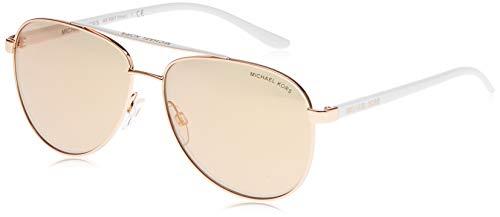 Michael Kors Damen Hvar 1080R1 59 Sonnenbrille, Gold (Rose Gold/Rosegoldflash)