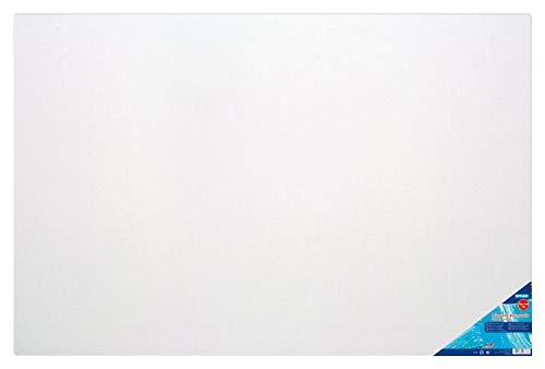 Stylex 28637 - Keilrahmen 70 x 110 cm, mit Leinwand aus 100 % Baumwollgewebe bespannt, grundiert, rückseitig geheftet, für Öl-, Acryl- und Temperafarben, Gouache - Malerei