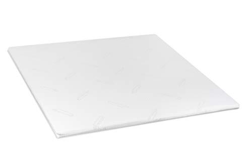 Zwoong Topper Matratze 140 x 200 cm- 100% Latex - ergonomische Matratzenauflage für optimale Unterstützung - Luxus Komfort - Anti-Allergisch - Höhe 4cm - weiß