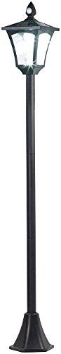 Royal Gardineer Beleuchtung außen: Solar-LED-Gartenlaterne, PIR-Sensor, Dämmerungssensor, 100 lm, 160 cm (Standleuchte)