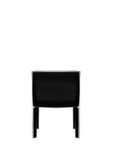 Kartell Ghost Buster Mesita de Noche, Negro Opaco, 40x57x41 cm