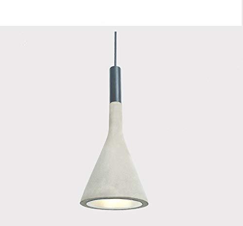 Lx.AZ.Kx E27 Moderno Vintage Industrial Lámparas de araña Restaurante Dormitorio Sala de estar Colgante de luz Ventiladores luces colgantes en la habitación de luz colgantes lámpara, Cemento Color
