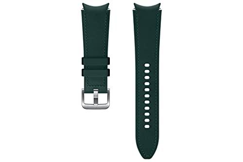 Samsung Correa de piel híbrida - Correa de reloj oficial Samsung - 20 mm - Tamaño mediano/grande - Verde