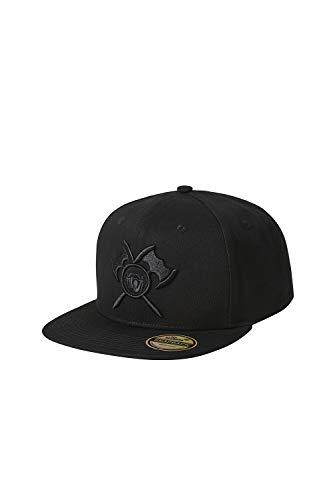 barTbaren Snapback Cap in schwarz aus 100% Baumwolle – verstellbare Unisex Basecap für Damen und Herren mit hochwertig aufgesticktem Axt Logo