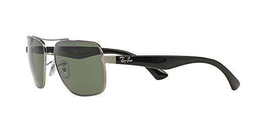 Fashion Shopping Ray-Ban Men's Rb3483 Square Metal Sunglasses