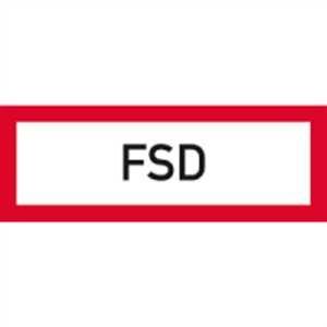 Aufkleber FSD (Feuerwehrschlüsseldepot) Folie 10,5 x 29,7cm