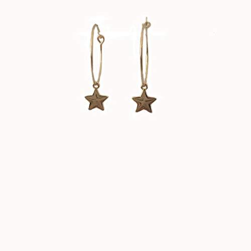Empty oorbellen in de vorm van een bohemian hanger oorbellen ster kleur goud oorbellen voor meisjes dames