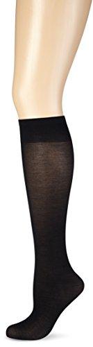 Nur Die Damen Knie Cotton Sensation Kniestrümpfe, 60 DEN, Schwarz (schwarz 94), One size