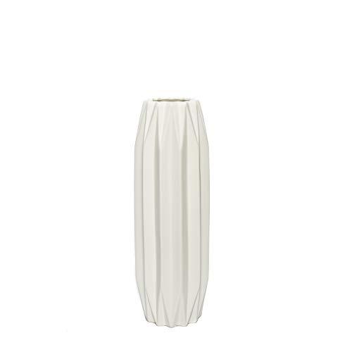 aufora h0273a hoch Dennington Polygon Vase, weiß