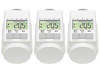 AGT - Set di 3 valvole termostatiche digitali programmabili (per il risparmio energetico), colore: Bianco