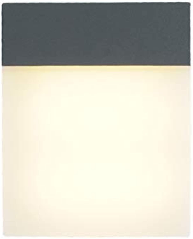 MESST LED-Wandleuchte im Freien, 15w, 90-260v, wasserdichtes Aluminiumwandlicht, geeignet für Balkon, Zaun, Villa Garden, Korridor