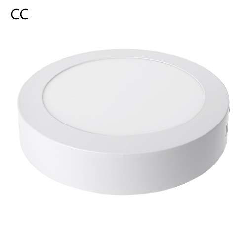 LLLucky Led-lichtpaneel, 12 W, AC 90-265 V, zonder boren, binnenverlichting, plafondlamp, vierkant, rond, voor hotel, kantoor en thuis