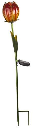 Smart Solar 1012530 Solar-tulpen met glazen bloemen, watergroen, 87 x 20,5 x 20,5 cm