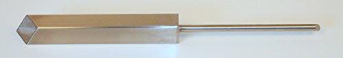 Stahligator Stilvolle Grabvase aus quadratischem Edelstahlrohr