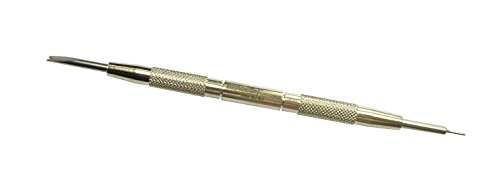 Bergeon 6767-S Watch Spring Bar Tool - Long Stainless Steel Handle with Replaceable Screw In Standard Tool End
