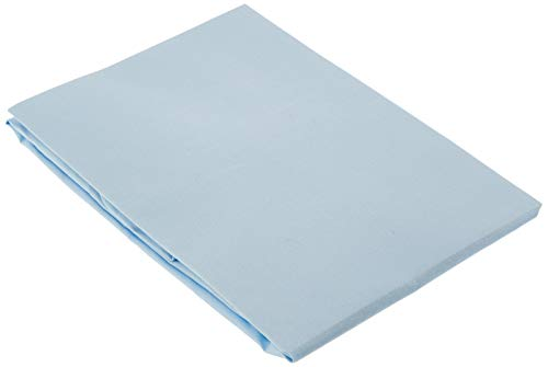 Pirulos Sábana Bajera Ajustable de Alta Calidad 100% Algodón para Cuna de 60 x 120 cm/Sábana Bajera Cuna Bebé Alta Calidad, Color Azul