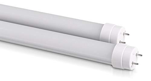 Lot de 2 tubes LED T8 G13 10 W | 60 cm | Mat | 4000 K (Blanc neutre) Lot de 2