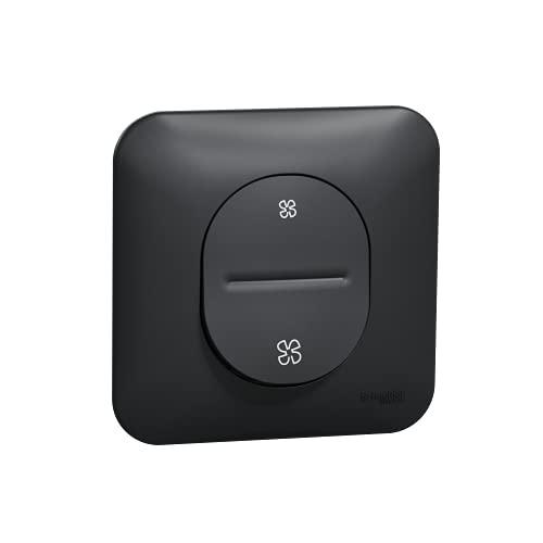 Ovalis - Interruptor para VMC (2 velocidades, sin parada, antracita)