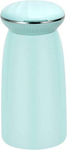 Humidificador creativo portátil de pequeño tamaño en silencio humidificación hogar Difusor de aroma, clamshell 300ml espejo de aumento, 6 horas humidificación continua, 3 colores disponibles azul (Col