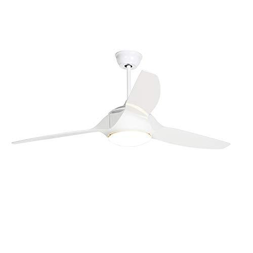 QAZQA Moderno Ventilador de techo con luz y mando a distancia blanco con LED con mando a distancia - Marin 56 Plástico/Acero Redonda Incluye LED Max. 1 x 18 Watt
