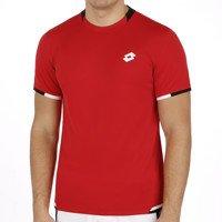Lotto Lob T-Shirt à Manches Courtes pour Homme Multicolore Petit Rouge Tabasco/Noir