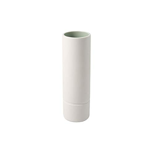 like. by Villeroy und Boch it's my home Vase L mineral, elegante Blumenvase für kunstvolle Gestecke, Premium Porzellan, grün, weiß