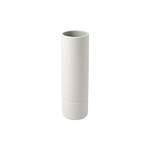 Villeroy & Boch - its my home Vase L mineral, elegante Blumenvase für kunstvolle Gestecke, Premium Porzellan, grün, weiß